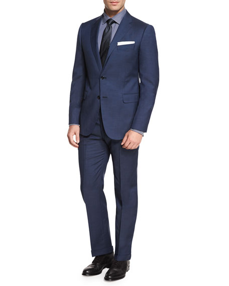 Giorgio Armani M-Line Solid Two-Piece Suit, High Blue