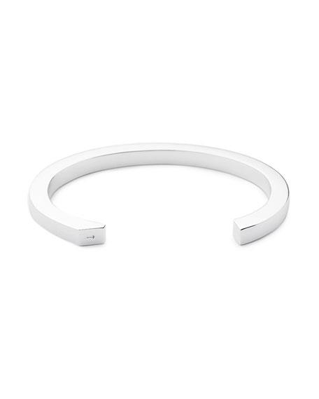 Ipsum Medium Silver Cuff Bracelet