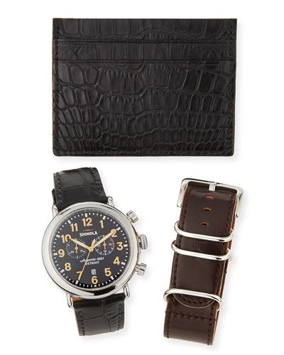 Runwell Watch, Wrist Strap & Card Case Gift Set