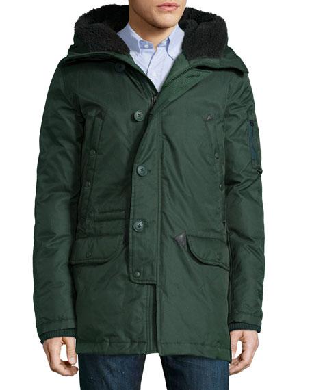 Spiewak Tech N3-B Snorkel Hooded Coat, Green