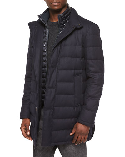Vallier Quilted Jacket, Navy