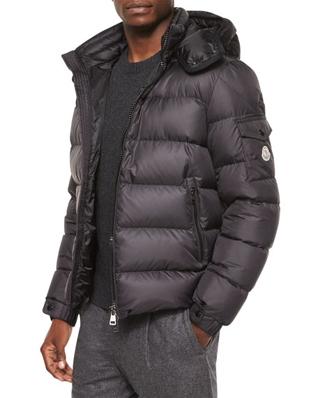Moncler Himalaya Hooded Down Jacket, Black