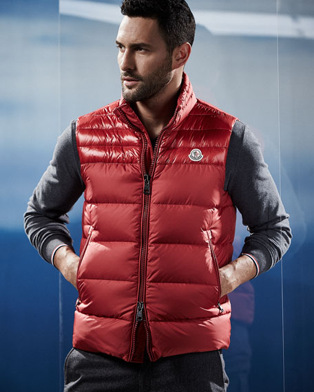 Image 2 of 4: Dupres Quilted Puffer Vest, Red
