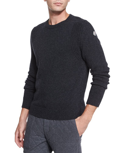 Wool Crewneck Sweater, Gray