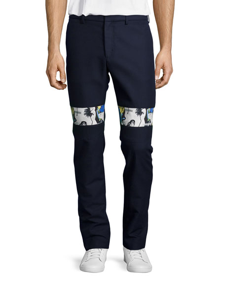 Opening Ceremony Slim-Fit Contrast-Band Pants, Eclipse Blue