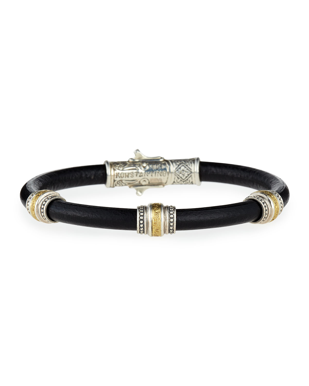 Konstantino Phidias Men's Leather Cord Bracelet