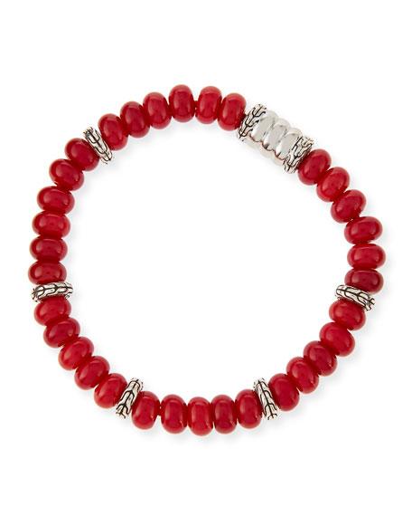 Men's Batu Bedeg Coral Beaded Bracelet
