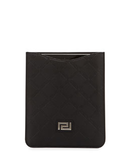 MEN'S EMBOSSED LEATHER TECH