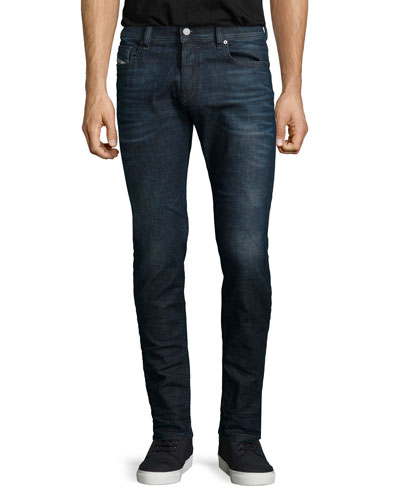 Sleenker Skinny-Leg Denim Jeans, Blue