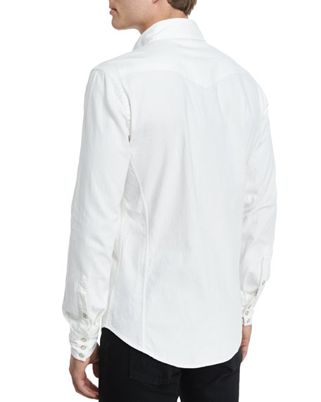 TOM FORD Western-Style Denim Shirt, White