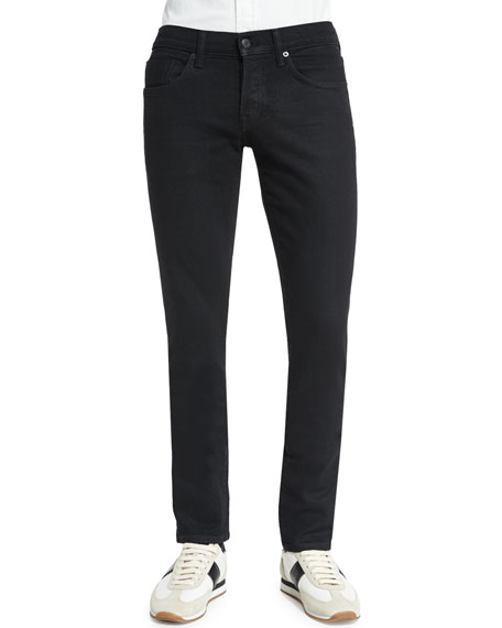 TOM FORD Slim-Fit Stretch-Selvedge Denim Jeans, Black
