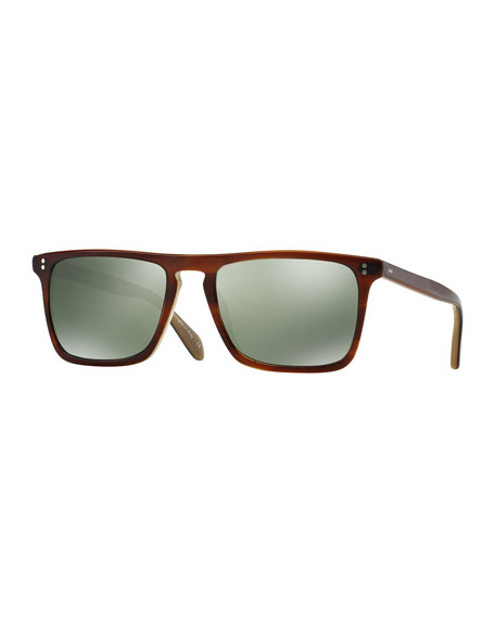 Oliver Peoples Bernardo 54 Polarized Sunglasses, Brown