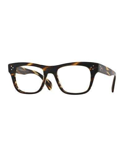Jack Huston 52 Matte Fashion Glasses, Chocolate