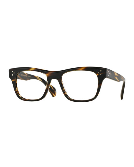Oliver Peoples Jack Huston 52 Matte Fashion Glasses, Chocolate
