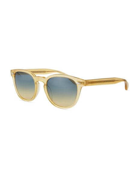 Oliver Peoples Sheldrake Plus Square Plastic Sunglasses, Light