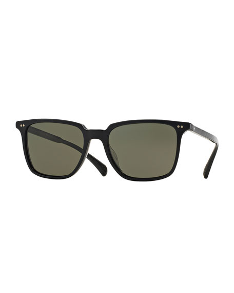 Oliver Peoples OPLL Sun 53 Polarized Sunglasses, Black