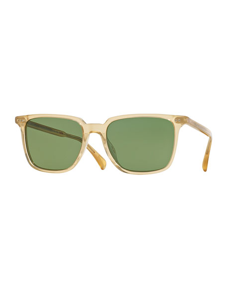 Oliver Peoples OPLL Sun 53 Polarized Sunglasses, Gold