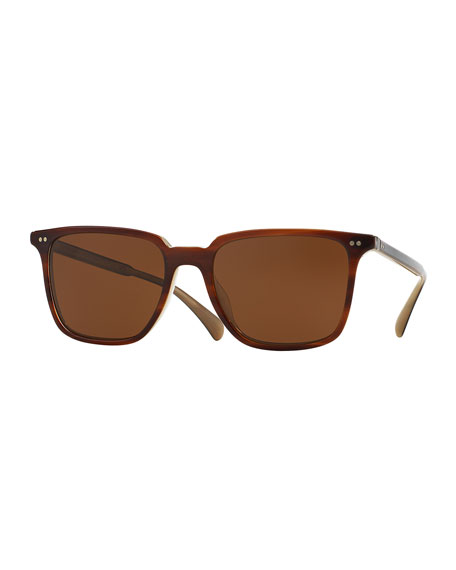Oliver Peoples OPLL Sun 53 Polarized Sunglasses, Brown