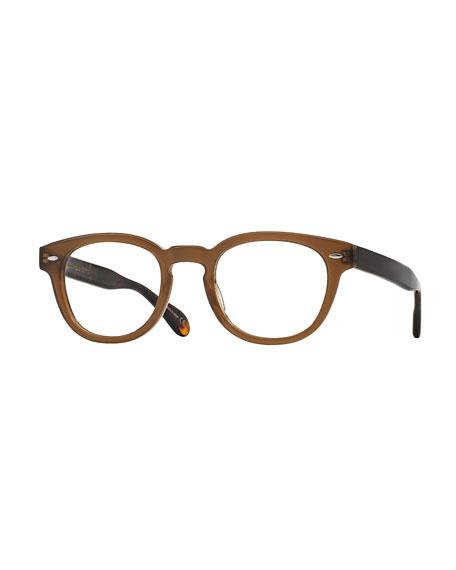 Oliver Peoples Sheldrake 47 Matte Optical Glasses, Taupe