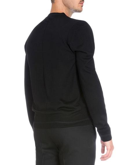 Logo Patch Crewneck Sweater, Black