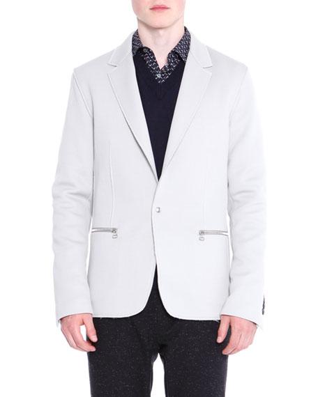 Lanvin Zip-Pocket One-Button Jacket, Ivory
