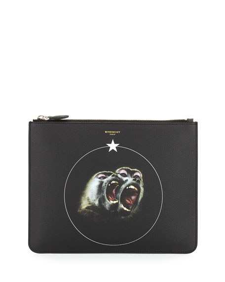 Givenchy Men's Monkey Brother Pouch, Black