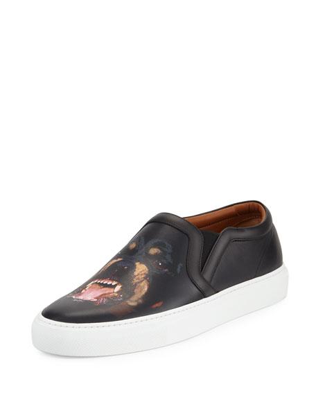 Givenchy Men's Rottweiler-Print Leather Skate Shoe