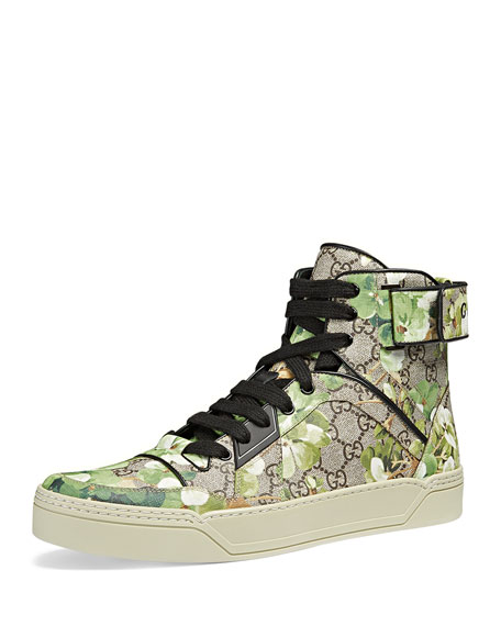 Gucci Blooms Printed Canvas High-Top Sneaker, Multi