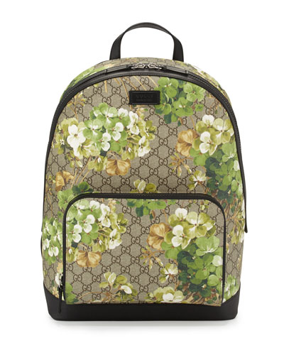 GG Blooms Canvas Backpack, Multi