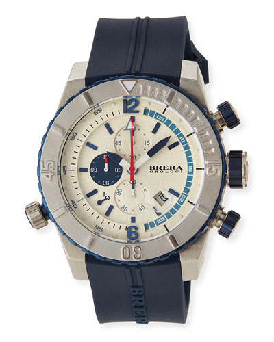 Sottomarino Diver Watch, Blue/Cream