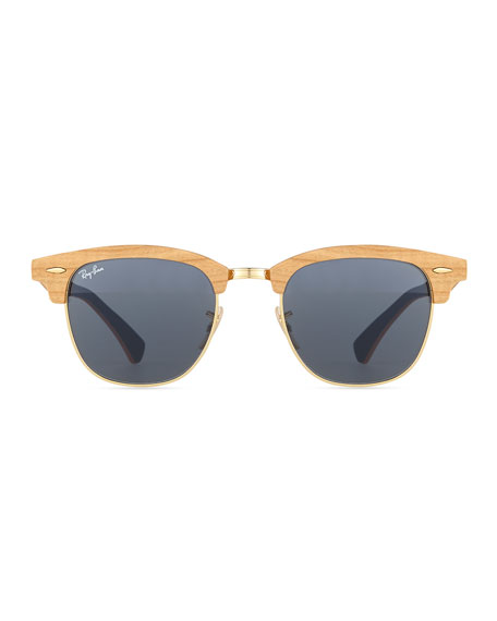 Ray-Ban Clubmaster Wood Sunglasses, Blue
