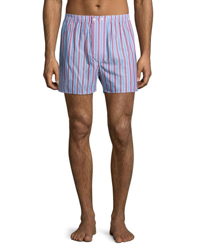 Striped Classic Boxer Shorts, Red
