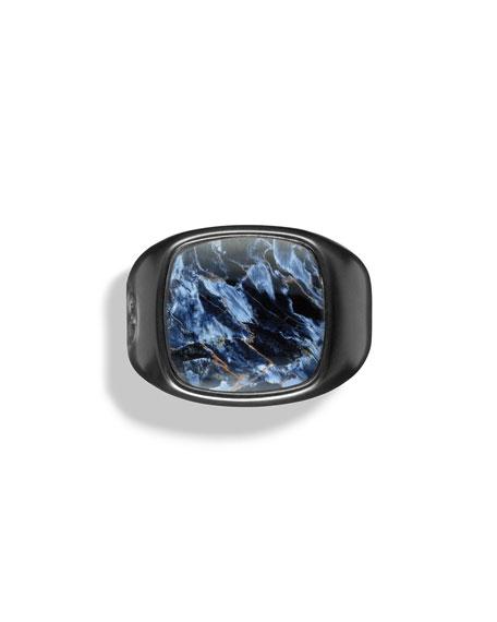 David Yurman Pietersite Cushion Signet Ring