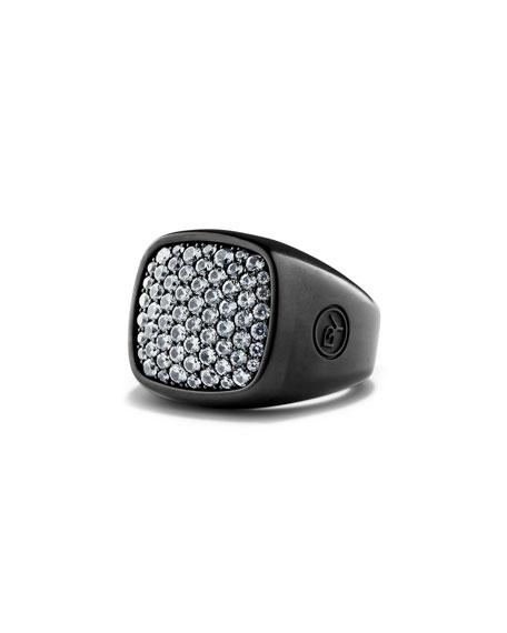 David Yurman Pave Sapphire Signet Ring