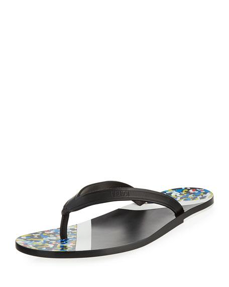 Fendi Confetti Flip-Flop Sandal