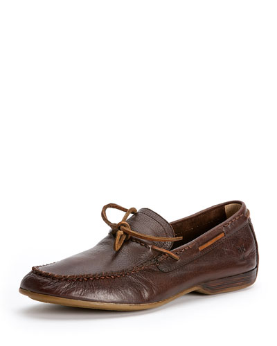 Lewis Leather Tie Loafer, Chocolate