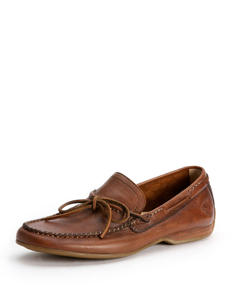 Frye Lewis Leather Tie Loafer, Brown
