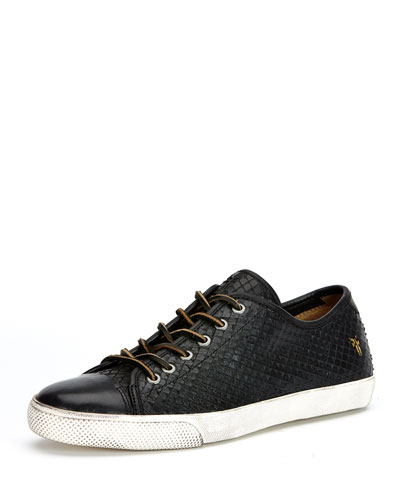 Chambers Cap-Toe Leather Sneaker, Black