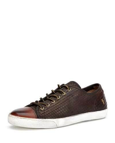 Chambers Cap-Toe Leather Sneaker, Dark Brown