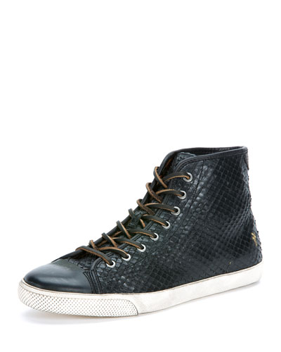 Chambers Leather High-Top Sneaker, Black