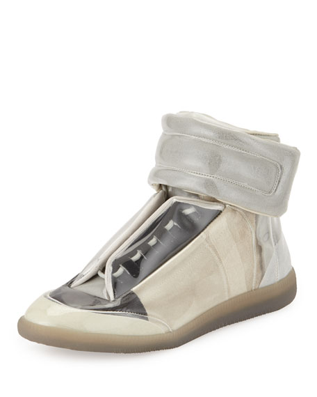 Maison Margiela Future Translucent High-Top Sneaker, Taupe