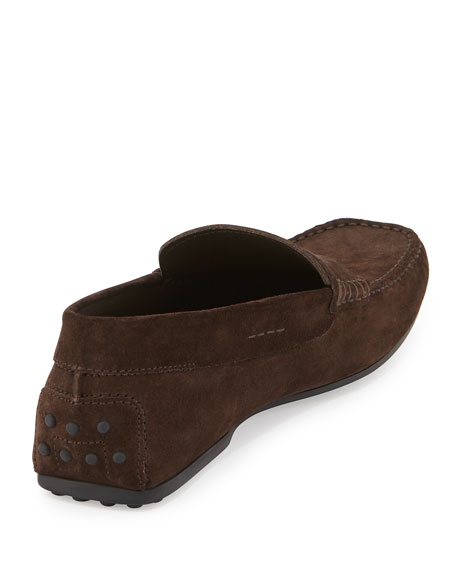 Suede Gommini Penny Driver, Brown