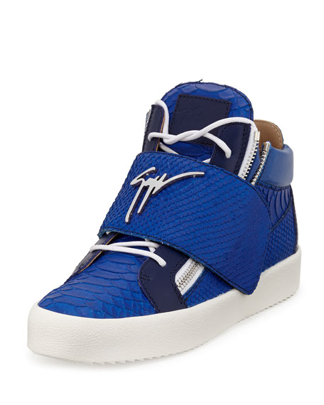 blue giuseppe zanotti sneakers