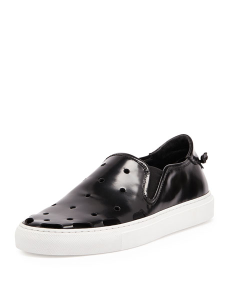 Givenchy Perforated Leather Skate Shoe, Black