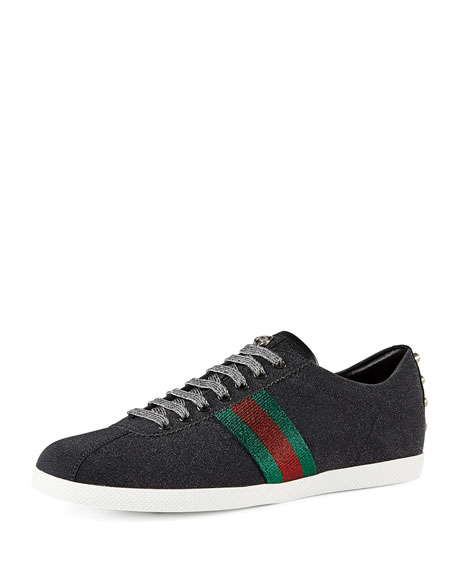 Gucci Bambi Web Low-Top Sneaker with