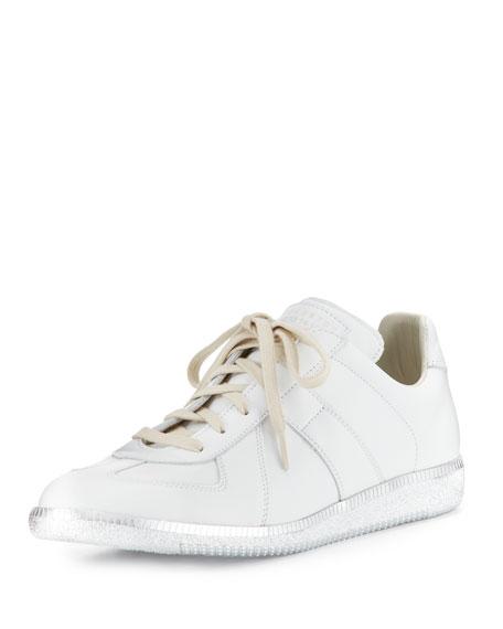 Maison Margiela Replica Low-Top Sneaker W/Metallic Sole, White
