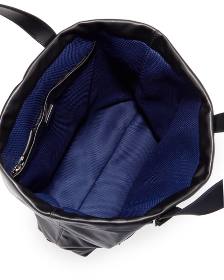 Leather Tote Bag, Black