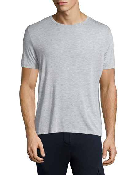 Short-Sleeve Crewneck T-Shirt, Gray