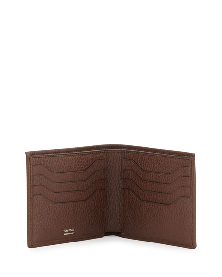 TOM FORD Calfskin Bifold Wallet, Brown