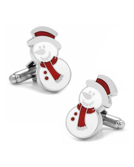 Snowman Cuff Links